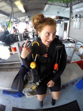 Crazy post dive hair o.O Photo credit: Hanna
